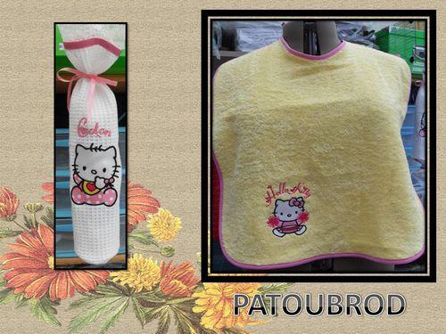 sac à coton et grand bavoir