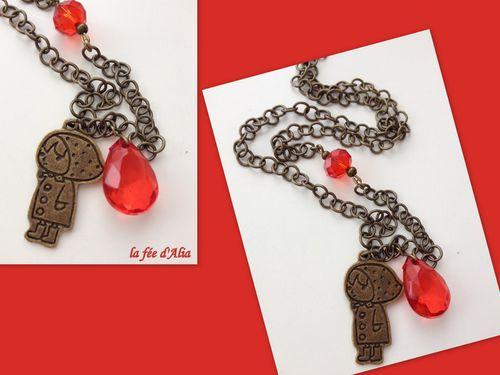collier petit chaperon rouge