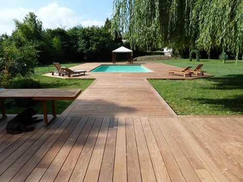 Terrasse en bois 78 yvelines ipe extra large france for Piscine integree dans terrasse