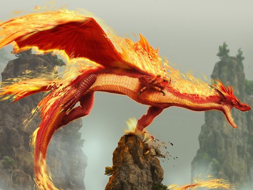 fond ecran wallpaper Fire Dragon 1600 x 1200