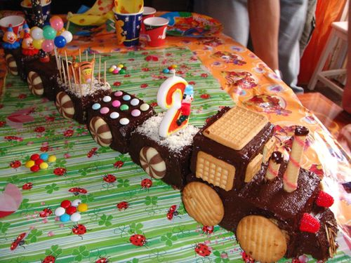 deco gateau train