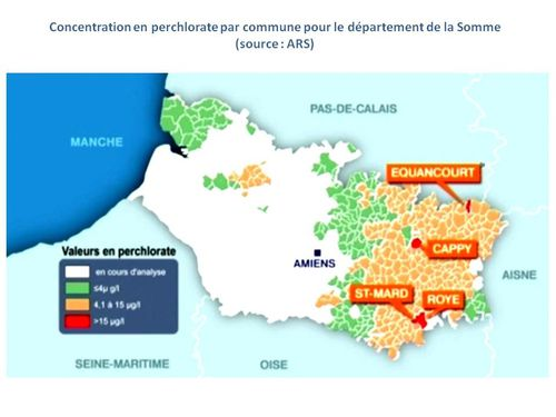 CARTE DE CONCENTRATION DE PERCHLORATE DANS LA SOMME