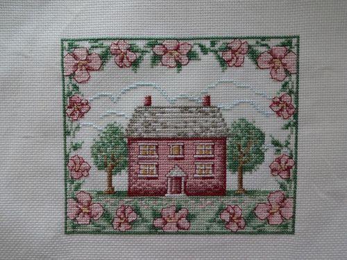 Cottage punto croce casetta