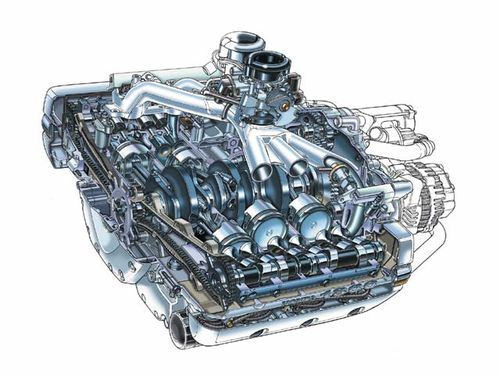 122 0102 21z+Honda GL1800 Gold Wing+Engine Sketch