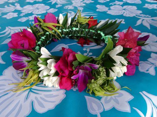 Papeete Couronne fleurs