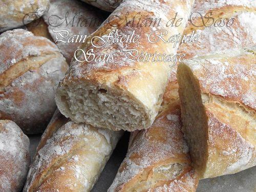 pain rapide facile sans petrissage miam miam de soso. Black Bedroom Furniture Sets. Home Design Ideas