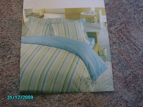Parure couette turquoise anis blog