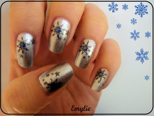 nail art flocon
