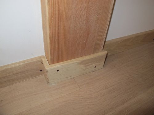 Tablettes de fen tre et plinthes termin es carrelage en for Coller carrelage sur bois