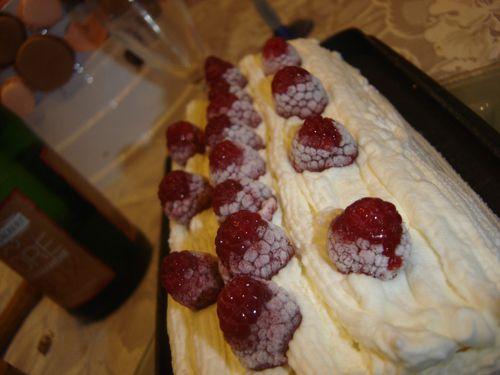 Buche glacée vanille framboise (3)