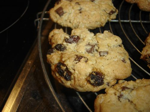 cookies flocons d'avoine raisins choco (5)