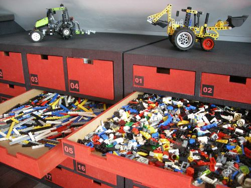 Am nagements meubles en carton angers for Meuble lego