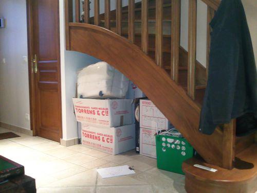 Creation placards amenagement d un dessous d escalier for Amenagement dessous d escalier