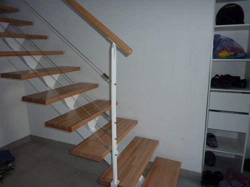 toussaint 2010 finition de l escalier structure m 233 tallique et bois rambardes en cable inox