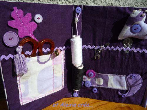 kit couture mauve intérieur