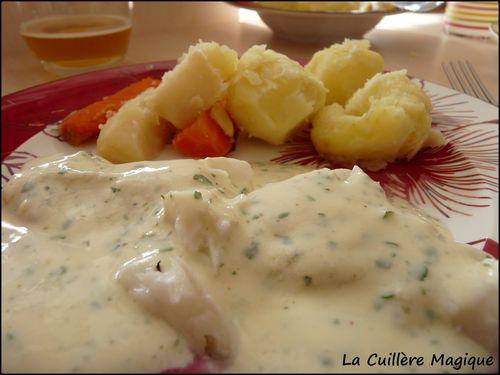Cabillaud sauce persil (V.Genest)