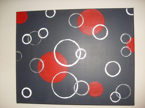 peinture avec pochoir maison tableau seventies essai sur la toile. Black Bedroom Furniture Sets. Home Design Ideas