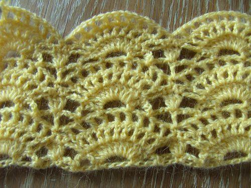 bordure coquille au crochet