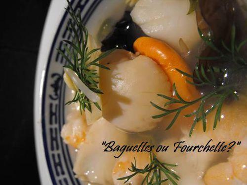 soupe de crevettes & St Jacques2