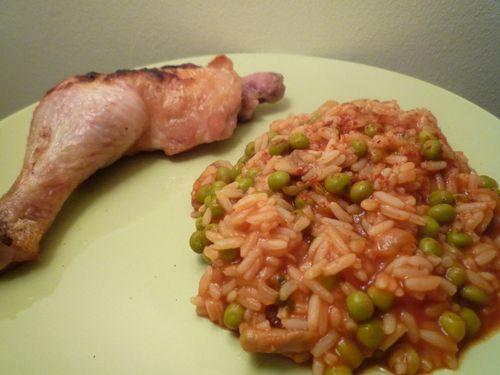 Poulet et riz a la mexicaine