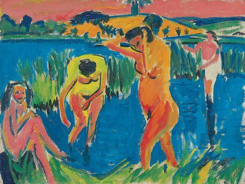 kirchner, quatre baigneuses, 1910