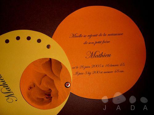 blog faire part rond orange jaune 3