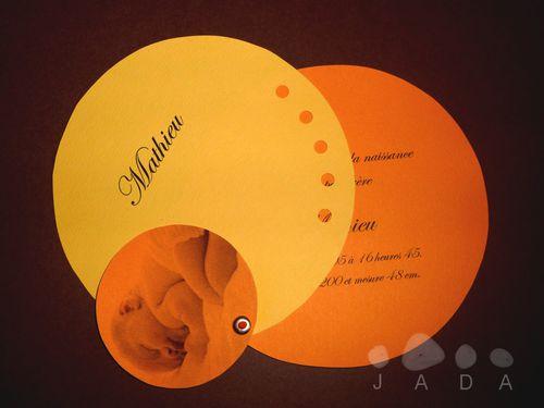 blog faire part rond orange jaune2