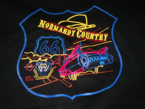 T-SHIRT NORMANDY COUNTRY SECTION ROUTE 66