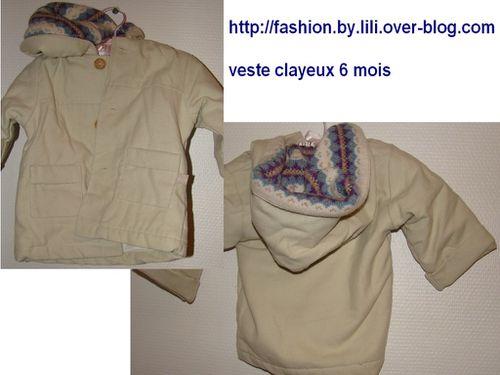 veste clayeux 6 mois