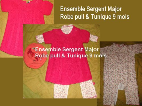 Ensemble Sergent Major 9 mois