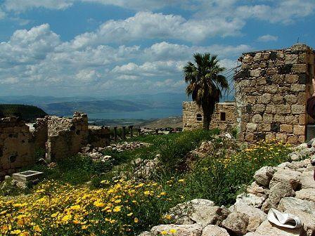 16-Jordanie-gadara-villages ottoman-antique-et-vue-sur-le-l