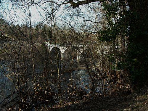 06- vue sur la vienne et le pont de Condat