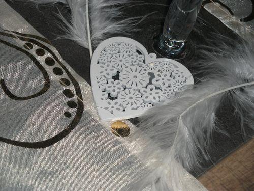 Table ivoire et bordeaux n°2 016