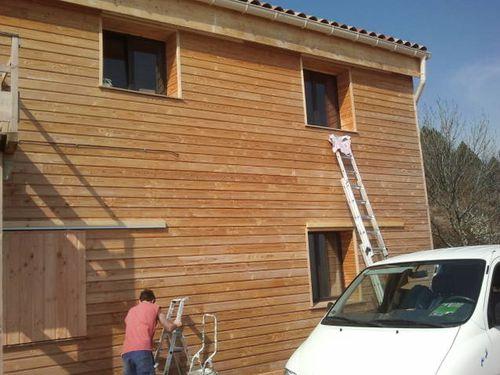 Maison bois ard che l 39 auto construction de notre maison for Entourage fenetre exterieur