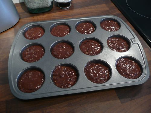 Muffins cacao-bananes 3
