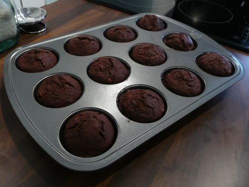Muffins cacao-bananes 4