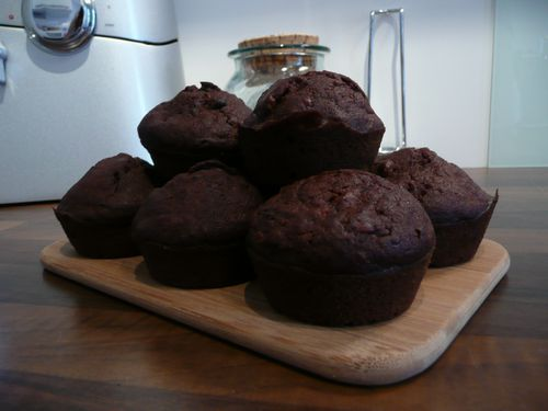 Muffins cacao-bananes 5