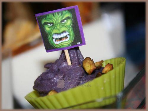 cupcake salée hulk