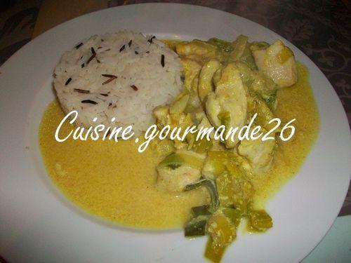 poulet curry poireaux