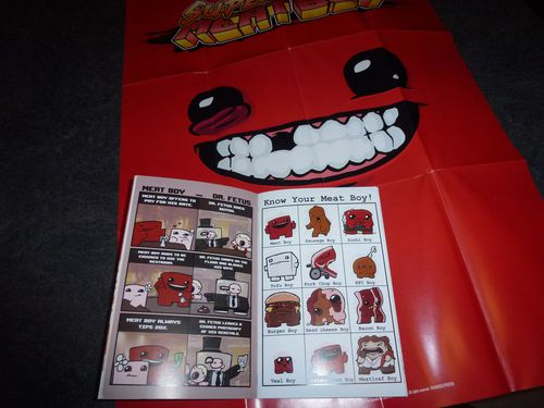 Super Meat Boy Ultra Rare Edition poster artbook