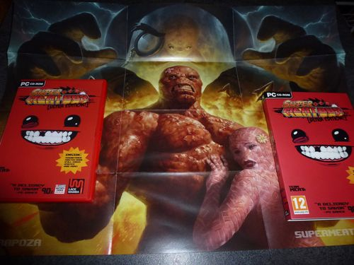 Super Meat Boy Ultra Rare Edition poster game