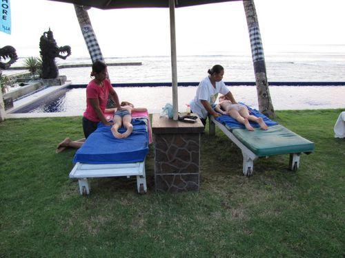 Candidasa hôtel Bali Santi massages Léa et Tim