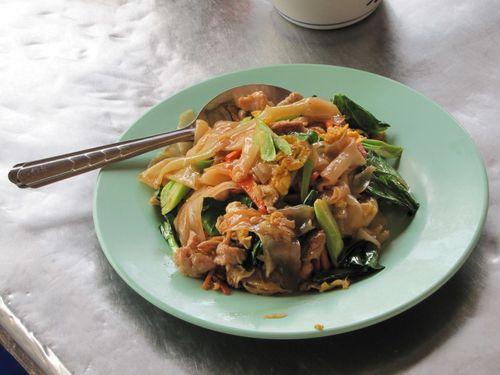 Damnoen Saduak marché flottant repas thaï