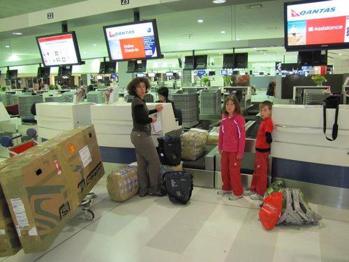 Sydney aéroport départ 9