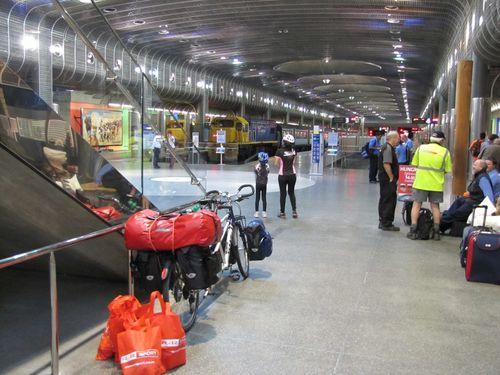 Britomart gare d'Auckland départ
