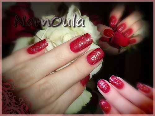 mat rouge doré & rose