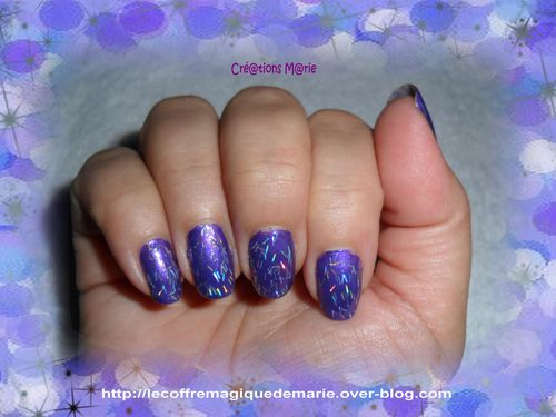 ongles 1 paillettes
