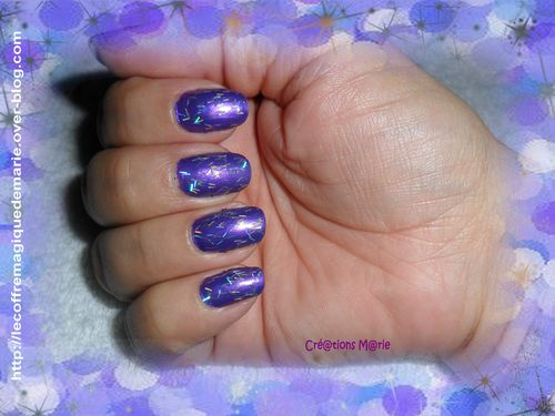 ongles 2 paillettes