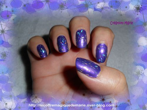 ongles 3 paillettes