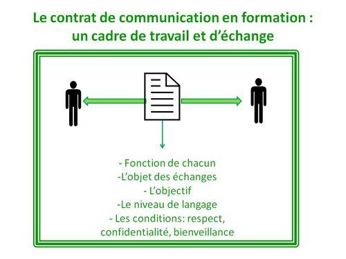 Le contrat de communication en formation